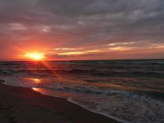 sunset [7] (.ju.) Tags: sunset sea summer sun beach evening holidays meer sundown august balticsea rgen ostsee
