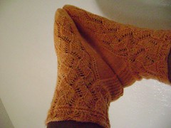 Peach Cream Kuchon Socks