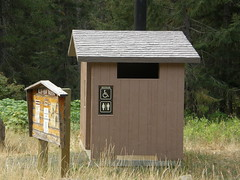 Toilet (yea I was surprised) at Miller Peak trailhead.