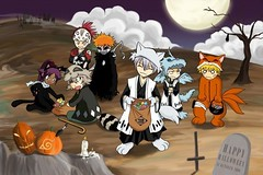 Halloween comic (Hyuga Mah) Tags: halloween comic bleach fox gin naruto uzumaki ichigo renji kurosaki ichimaru urahara yoruichi kyuubi kisuke abarai