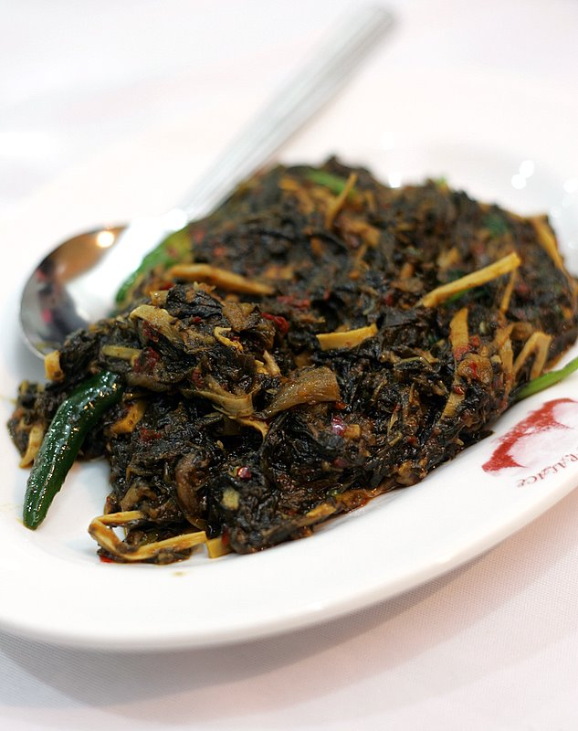 Fried Roselle Leaves