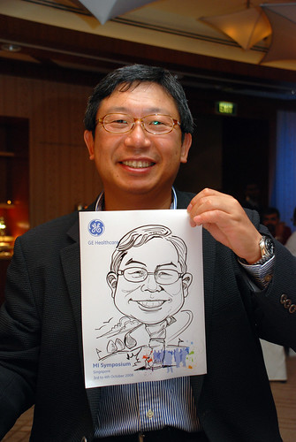 Caricature live sketching for GE Healthcare MI Symposium 10