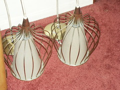 Pair of Pendant lamps (jacqlennon) Tags: modern fifties kitsch retro moderne 1950s atomic midcentury