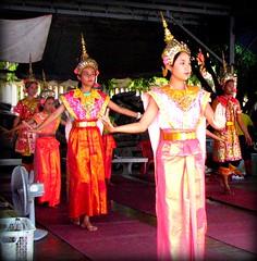 Dancers at Wat Yai in Phitsanulok. (MacKensie!) Tags: thailand temple dance dancers buddha buddhist traditional performance buddhism palace thai wat northern picnik phitsanulok yai