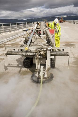 hidrodemolición del hormigón con chorro de agua a presión