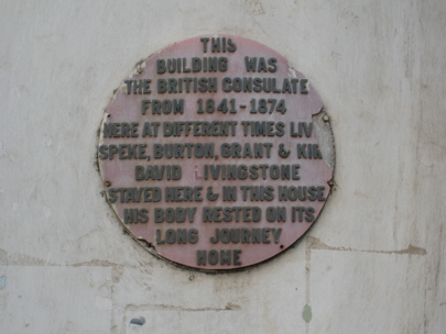 Livingstone plaque