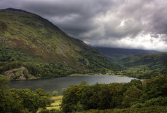 Wales: Snowdonia, Lake Gwynant (Tim Blessed) Tags: uk sky mountains nature clouds landscape countryside scenery lakes snowdonia northwales singlerawtonemapped rubyphotographer