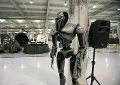 Cylon Centurian (jurvetson) Tags: losangeles factory tour guard centurian badge cylon battlestargalactica meanmachine spacex elonmusk falcon9