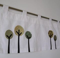 Tiny Trees Valance (creativeneurosis) Tags: tree sewing crafts curtain curtains etsy applique creativeneurosisetsycom creativeneurosis