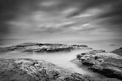 Bungan b&w (Tim Donnelly (TimboDon)) Tags: ocean longexposure sea blackandwhite bw rocks australia nsw bungan abigfave bestofaustralia