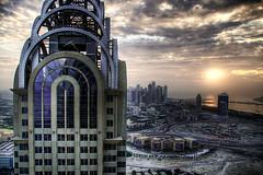 Dubai from the roof (momentaryawe.com) Tags: sunset dubai uae emirates hdr dubaimarina dubaimediacity businesscentraltower