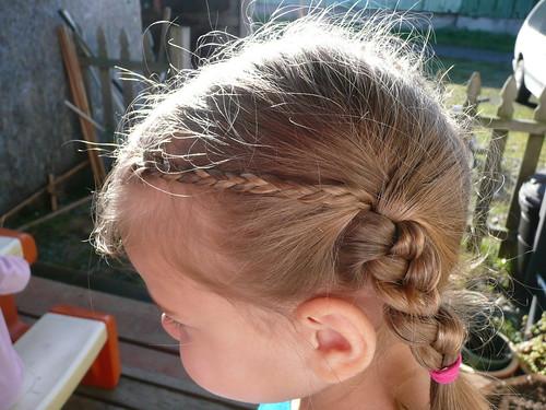 Guenna's little whispy braids