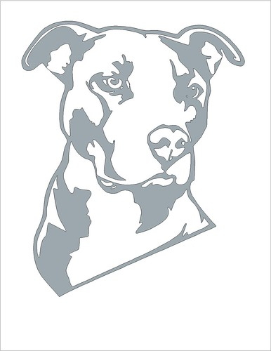 Pitbull pumpkin carving stencil. Click on the picture for the larger stencil
