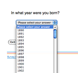 In what year were you born?