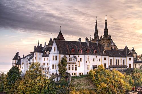フリー画像| 人工風景| 建造物/建築物| 城/宮殿| スイス風景| HDR画像|      フリー素材|