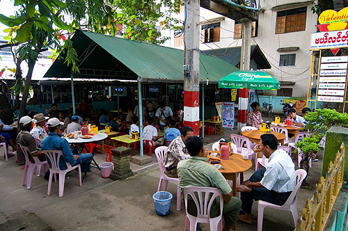 Valentine tea shop, Thachilek, Shan State, Myanmar