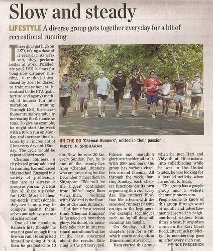 Chennai Runners - The Hindu
