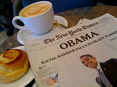 Good morning, world (wycombiensian) Tags: newmexico santafe coffee breakfast election victory ecco obama newday
