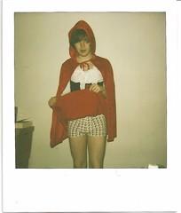 Hello (LUKERICHARDS) Tags: film halloween me boys drunk wasted manchester fun polaroid costume whitewalls flash luke nighttime 600 crossdressers richards 31st redridinghood ladyboys