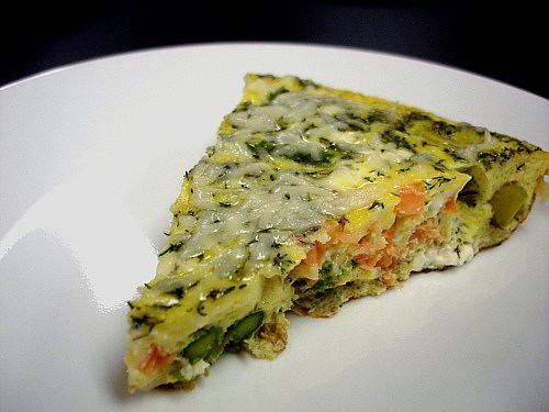 Smoked Salmon & Asparagus Frittata | Tastefully Done
