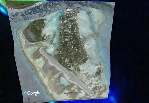 Apataki Atoll FP -Niutahi Village - Georectified DigitalGlobe Image from Google Earth (1-7,500)