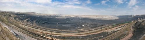 Panoramic Ekibastuz coal mine