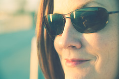 in shades (poopoorama) Tags: seattle portrait woman reflection sunglasses washington nikon sigma margaret d300 olympicsculpturepark cinnamonrose 1850mmf28exmacrohsm