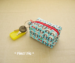 Mini Boxy Coin Pouch - Fun Panda Blue