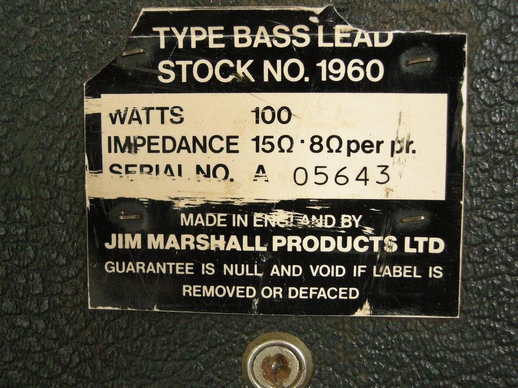 """marshall cab dating Before too long enough roadies had quit that pete came back and asked marshall cut it in half, as a single 8x12"""" cab proved too unwieldy for his (or anyone's) road crew what resulted was the first marshall stack, with a 100-watt head placed atop two 4x12 cabs."""