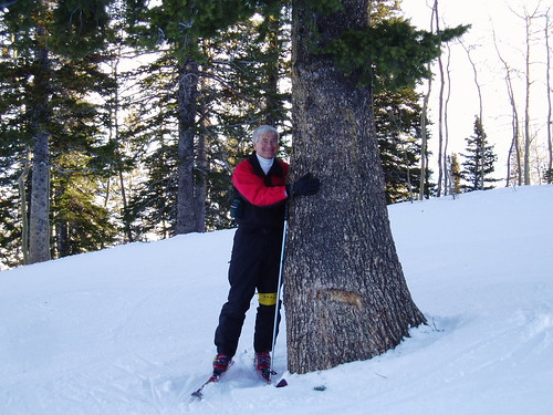 "Keith at Deer Valley - ""Tree Hugger"""