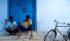 mid day times (sreenisreedharan) Tags: blue people india bicycle highfive hercules amateurs fortkochi abeauty amateurshighfive invitedphotosonly