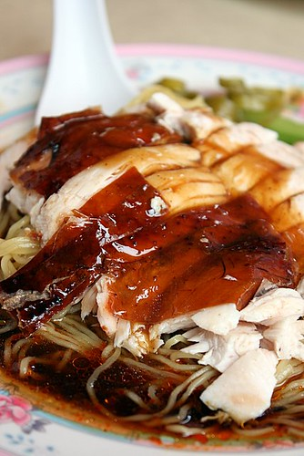 Roast chicken noodles