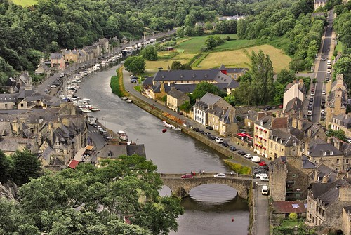 The 9th century fortified town of Dinan sits on the banks of the river Rance in Brittany. Photo: Mauro Mazzacurati