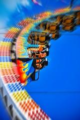 Ring of Fire (kevkev44) Tags: ride upsidedown action picnik larson ringoffire floridastatefair fairrides fairride nikond60 upsidedownride larsoninc larsonrides