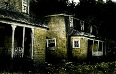 a dodgy home (Mike Ambach) Tags: house building photoshop dark decay pointandshoot cbcradio3 smrgsbord