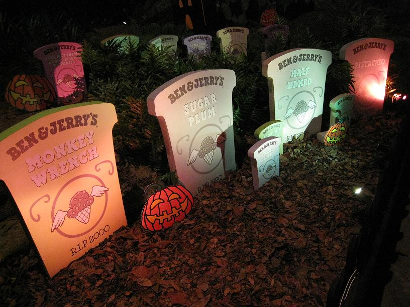 Ben & Jerry Flavour Graveyard at Night Safari