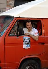 Bianco/Rosso (Francesco De Quattro) Tags: red white car nikon sigma napoli anti rosso bianco mobilitazione beppegrillo studenti manifestazione fascista furgone corteo antifascista d90 antagonisti studentesca movimento5stelle