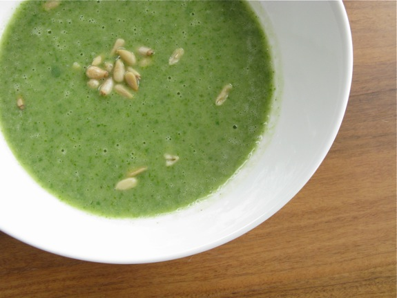arugula soup spring salad 003