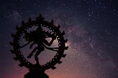 Cosmic Dance. (Prabhu B Doss) Tags: india canon way stars star photo dance bangalore trails galaxy astrophotography concept dslr shiva nataraja milky cosmic kolar rudra milkyway 550d prabhub prabhubdoss zerommphotogra
