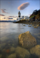 Cloch Lighthouse (CU-Photography) Tags: sunset scotland riverclyde gourock inverclyde clochlighthouse