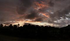 panorama (Joshman85) Tags: bridge sunset panorama cloud reflection tree beach water sunrise gold coast mt harbour dam sydney brisbane vista coottha