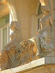 Sitting Around (anneinparis16) Tags: paris france stone architecture balcony figures caryatids pritzker belleepoque flickrsbest abigfave impressedbeauty betterthangood theperfectphotographer