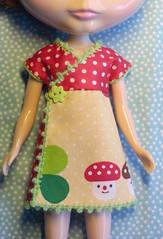 decolello cuteness (megipupu) Tags: mushroom japan japanese dress handmade dot dotted kawaii blythe shroom polkadot decole decolello megipupu