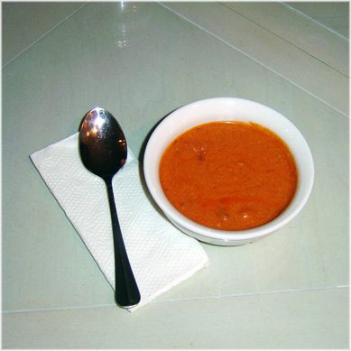 Spicy African Peanut Soup - Bowl