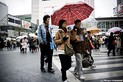 Shibuya @ Daytime (~Morgan) Tags: japan tokyo rainyday shibuya pluie daytime japon journe ©morgancugerone 200803301604442415