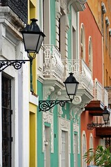 Old San Juan (StGrundy) Tags: door windows orange streets color window colors yellow architecture shopping calle nikon doors bright oldsanjuan puertorico streetlamp streetlamps teal district balcony architectural sanjuan doorway balconies lamps multicolor doorways gettyimages sanjuanantiguo callecristo d80 nikond80 colorphotoaward top20travel artistsoftheyear miviejosanjuan