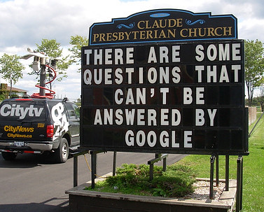 """Yes! Even Goggle Hasn't All The Answers"""