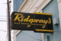 ridgway's neon sign
