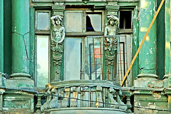 Odessa  Faade detail (jandudas) Tags: old city sea black architecture port europe balcony balkon odessa ukraine eastern balcon decayed ukrajina ucraina ades  ukrajna oekrane  a