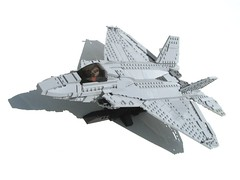 F-22 Raptor (psiaki) Tags: airplane fighter martin lego military jet raptor stealth f22 lockheed moc